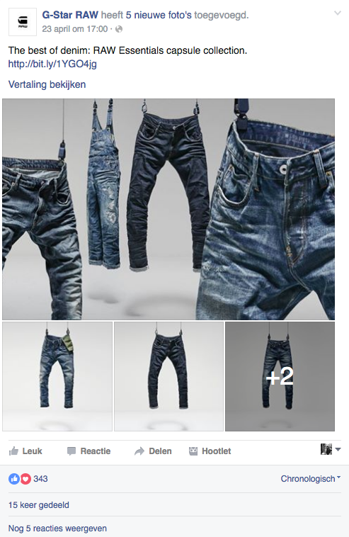 Social War - IIZT - Facebook - Engagement - Fashion - G-Star RAW - 1