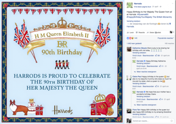 preview-full-Social War - IIZT - Facebook - Engagement - Fashion - Harrods-Queen-Elizabeth-II-Harrods-90th-year-celebration